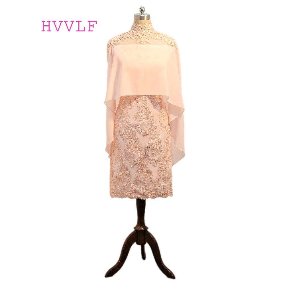 Rose 2019 mère de la mariée robes gaine Cap manches en mousseline de soie Appliques dentelle Pluls taille marié mère robes pour les mariages