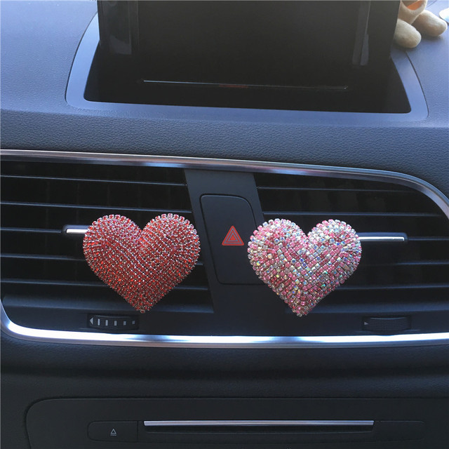 Bling Bling Sexy Lips Loving Heart Outlet Vent Perfume Clip Car Air Freshener car decoration interior car accessories for girls