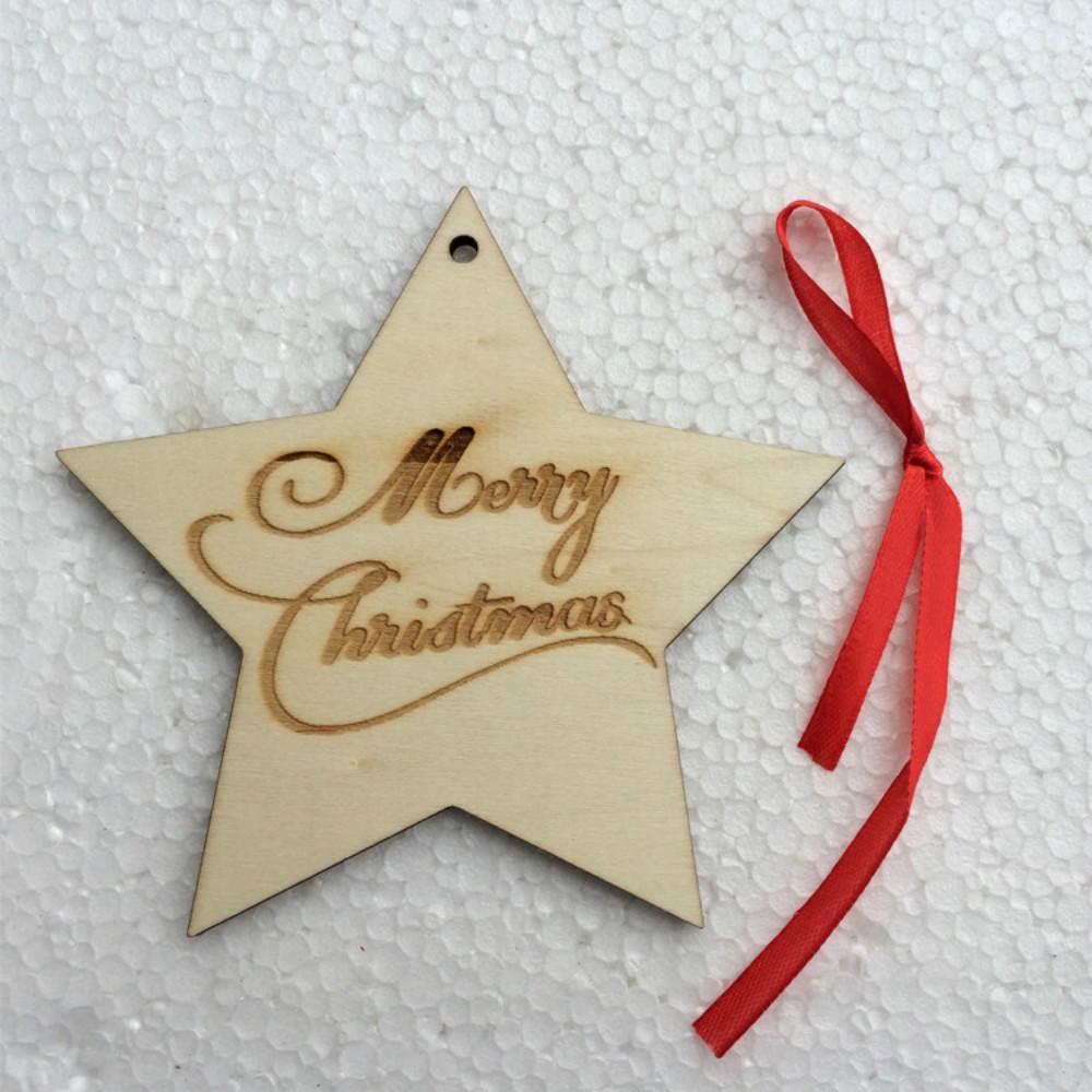 Decorador de arboles de navidad 187 home design 2017 - Zljq Estrella De Navidad Decoraci N De 10 Lote Estrella De Navidad Colgante De Madera De