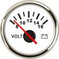 Boot Voltmeter Auto Lkw Marine Batterie Spannung Gauge Motorrad Voltmeter Gauge Palette 8 16 V 52mm Messgeräte & Instrumententafeln Kraftfahrzeuge und Motorräder -
