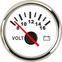 Boot Voltmeter Auto Vrachtwagen Marine Batterij Voltage Gauge Motorcycle Voltmeter Gauge Bereik 8-16 V 52mm