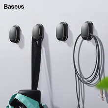 Baseus 4PCS Cable Organizer USB Cable Clip Management Protector Cable Winder Suction Sup Wall Hooks Hanger Car Sticker Holder(China)