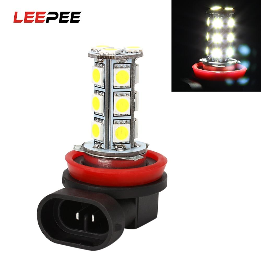 LEEPEE H11 H8 Dritat e fenerit të automjetit Llambat e dritës së dritës së dritës së makinës LEPEE H11 H8 Aksesorë automatikë super të ndritshëm të Bardhë