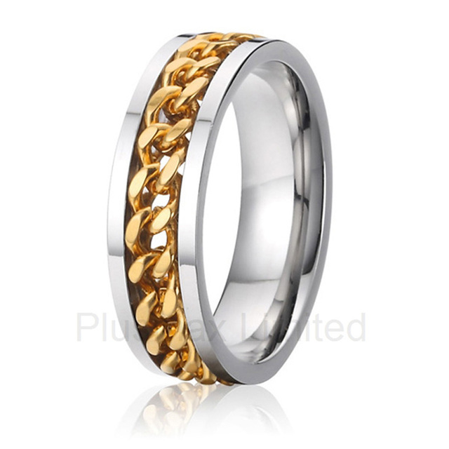 china wholesaler perfect match design wedding band jewelry gear rings for men - Gear Wedding Ring