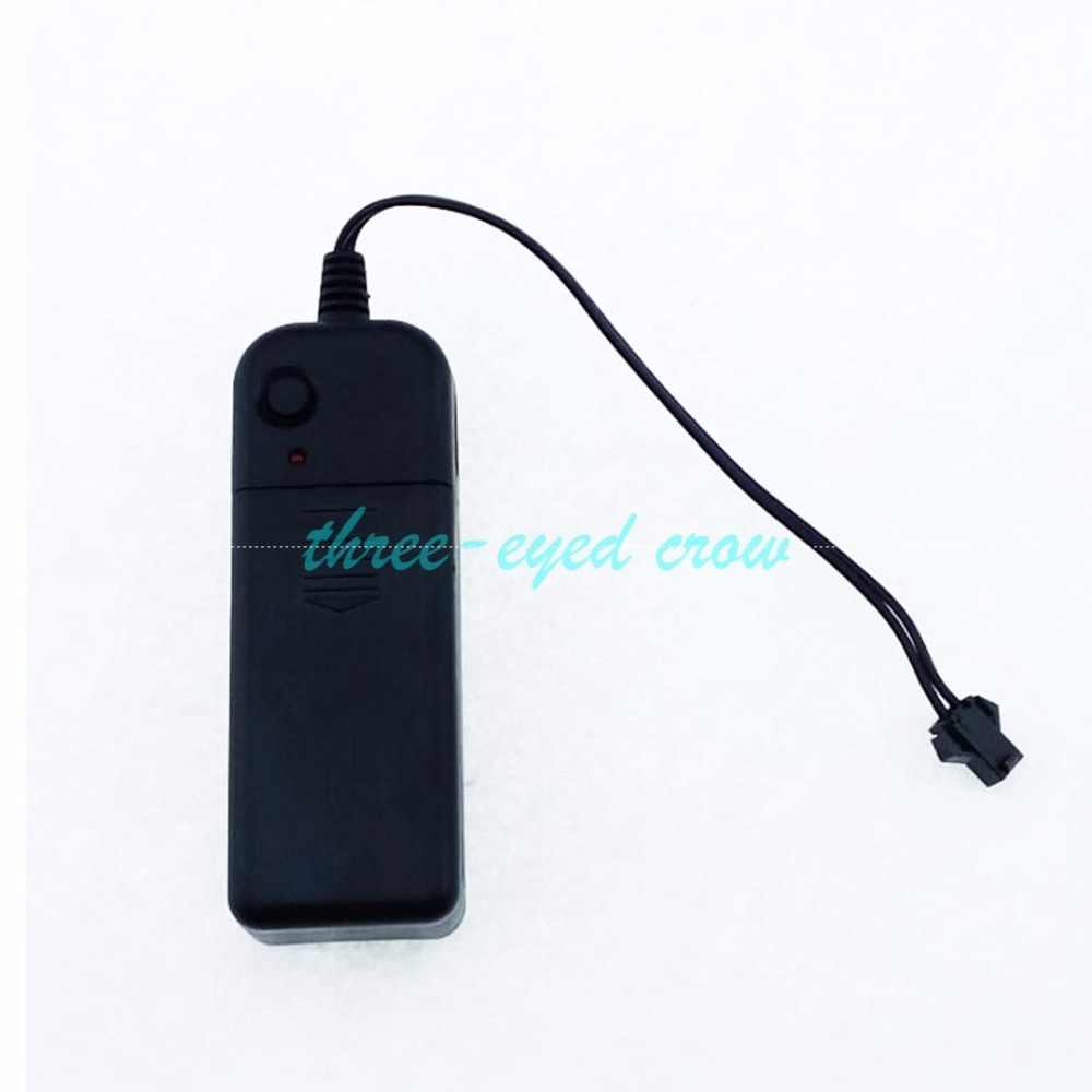 Бесплатная доставка 1-5 м Электролюминесцентный провод 2AA батареи инвертор 3 модели el драйвер для el погоне Wire светящиеся как вода бег светодиодные полосы