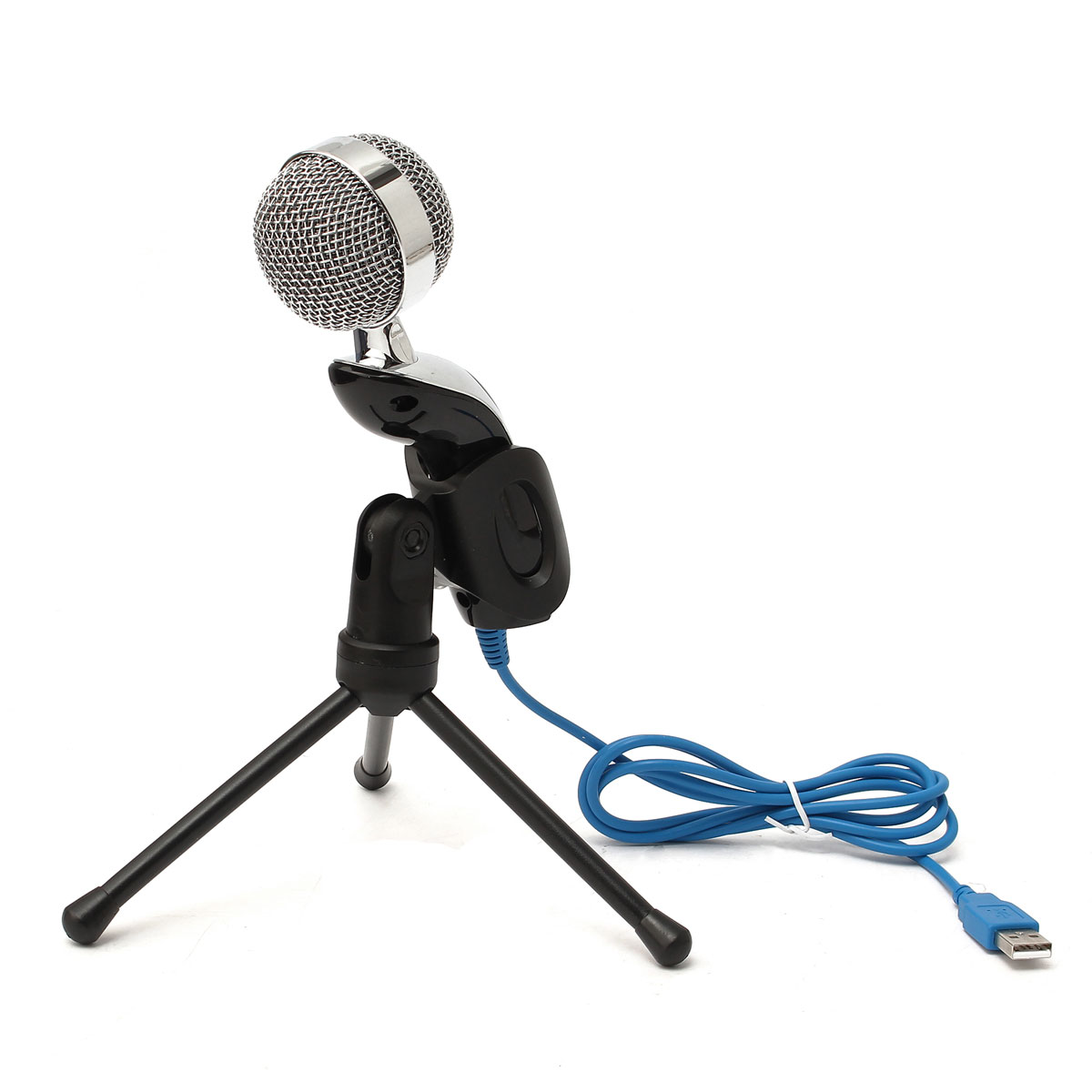 New USB Professional Desktop Condenser Microphone Mic Studio For PC Computer Recording Condenser Mic With Stand Shock Mount