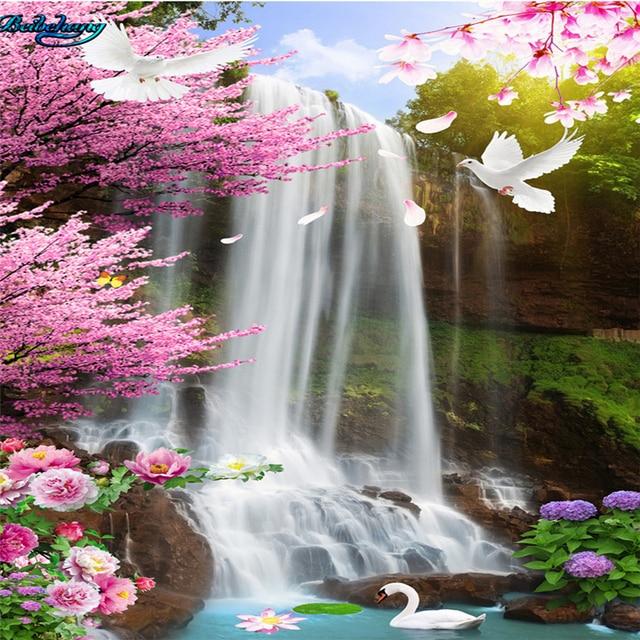 Fall Sunshine Wallpaper Beibehang Large Custom Wallpaper With Beautiful Waterfalls