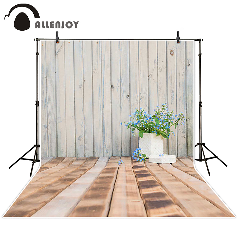 Allenjoy photographic background Wooden wall flower box backdrops newborn boy scenic customize 5x7ft
