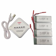 4PCS 3 7V 900mah Lithium font b Battery b font with 4 in 1 Charger for