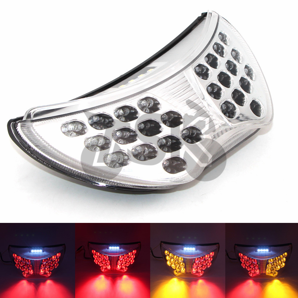 For Honda CBR 600 F4 F4i CBR900RR Motorcycle LED Rear Turn Signal Tail Stop Light Lamps Integrated
