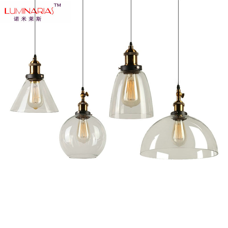 все цены на American Retro Loft Vintage Glass Pendant Light Cafe Pendant Lamp Dinning Room Kitchen Lighting E27 AC 110V 220V