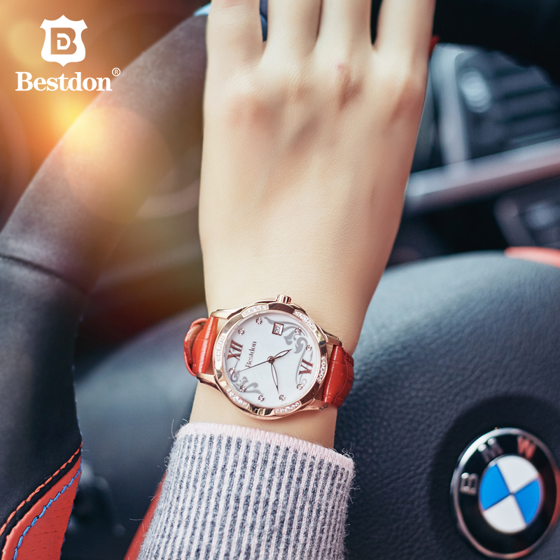 Bestdon Women Watch Top Luxury Brand Female Diamond Gold watches Casual Clock Waterproof Quartz Wristwatch Relojes Mujer
