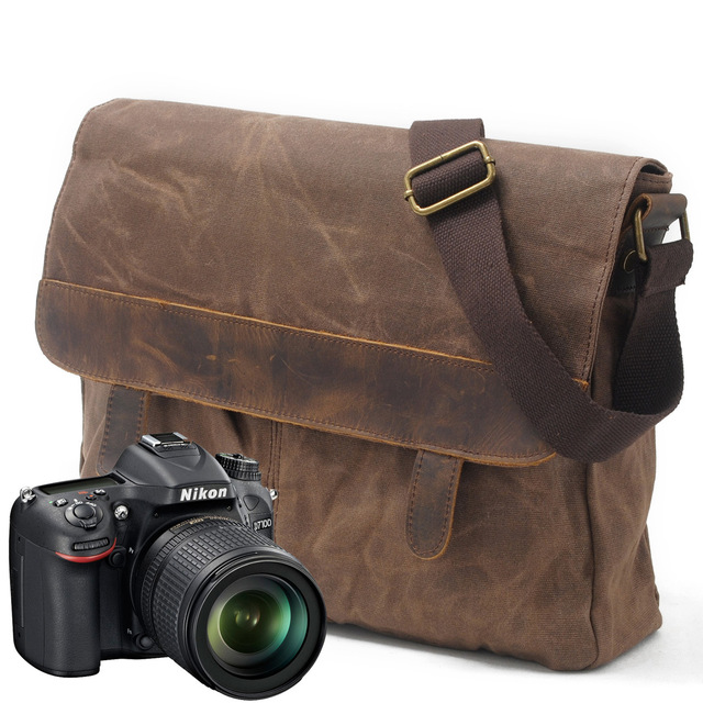 900bcca52 Luxury Cowboy Oil Skin Bags Batik canvas bag men Travel leisure travel bag  Shoulder Messenger Bag retro waterproof computer