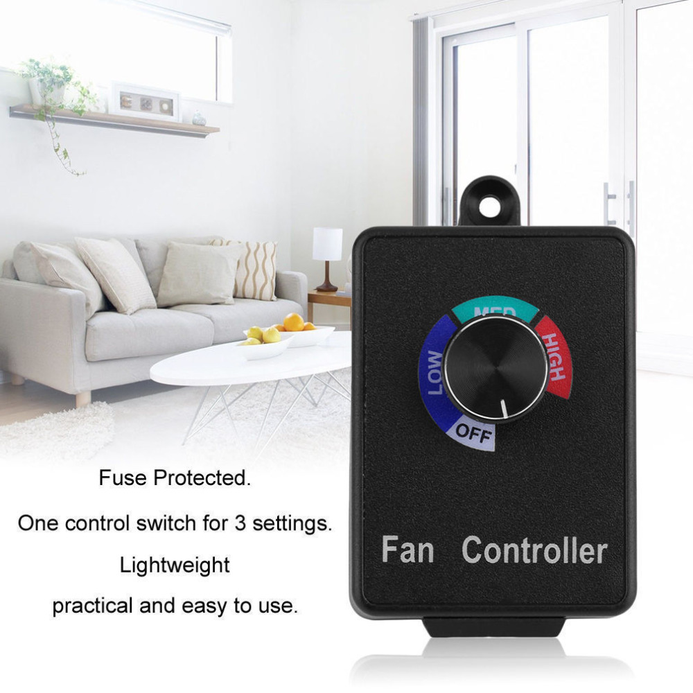 Variable Fan Speed Controller Hydroponics Air Duct Booster Inline Blower Exhaust
