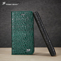 Fierre Shann For Iphone 6s 7 Plus Luxury Top Leather Crocodile Holster For The Galaxy S8