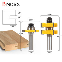 Binoax 1 1 4 2 Bit Tongue And Groove Router Bit Set 1 2 Shank