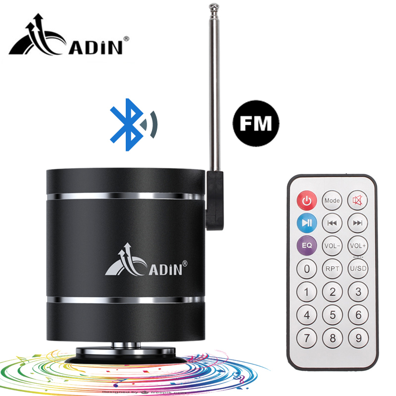 Adin 15W Bluetooth 4.0 Portable Mini Vbration Speaker Audio Multimedia FM Radio Bass Outdoor Wireless Speaker for Computer PC comfast wireless outdoor router 5 8g 300mbps wifi signal booster amplifier network bridge antenna wi fi access point cf e312a