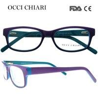 c8a2ab95a OCCI CHIARI 2018 New Fashion Women Anti Blue Lens Light Acetate Glasses  Optical Clear Female Frames. OCCI CHIARI 2018 Novas Mulheres Da Moda óculos  ...