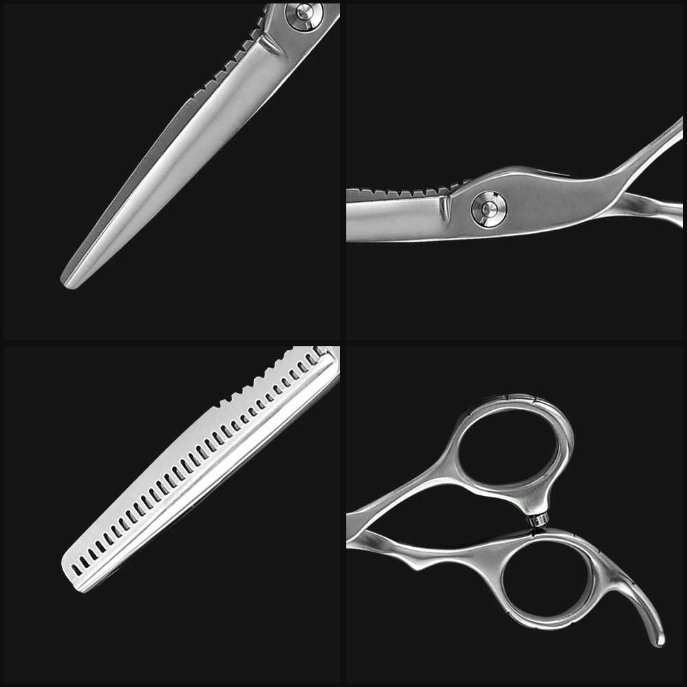 אופנה שיער מספריים 6 אינץ במספרות מספריים חיתוך דליל סטיילינג כלים מבריק/מאט בארבר עבור תספורות