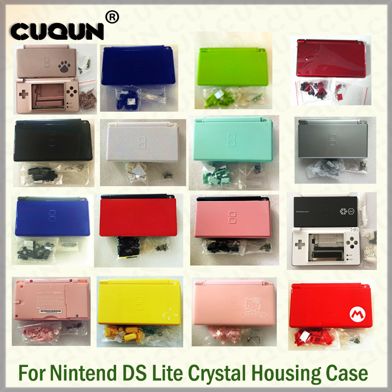 22 Pure Colors Full Housing Shell Case For Nintend DS Lite Console Case Housing Shell With Screwdriver & Protective Screens Free