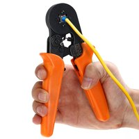 Multi Use 0 25 6mm HSC8 6 4 Self Adjusting Crimping Plier AWG 24 10 For