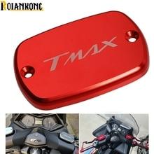 Motorcycle CNC Brake Fluid Reservoir Cap cover LOGO For Yamaha Tmax 530 530 T-MAX500 T-MAX530 2008-2016 недорго, оригинальная цена