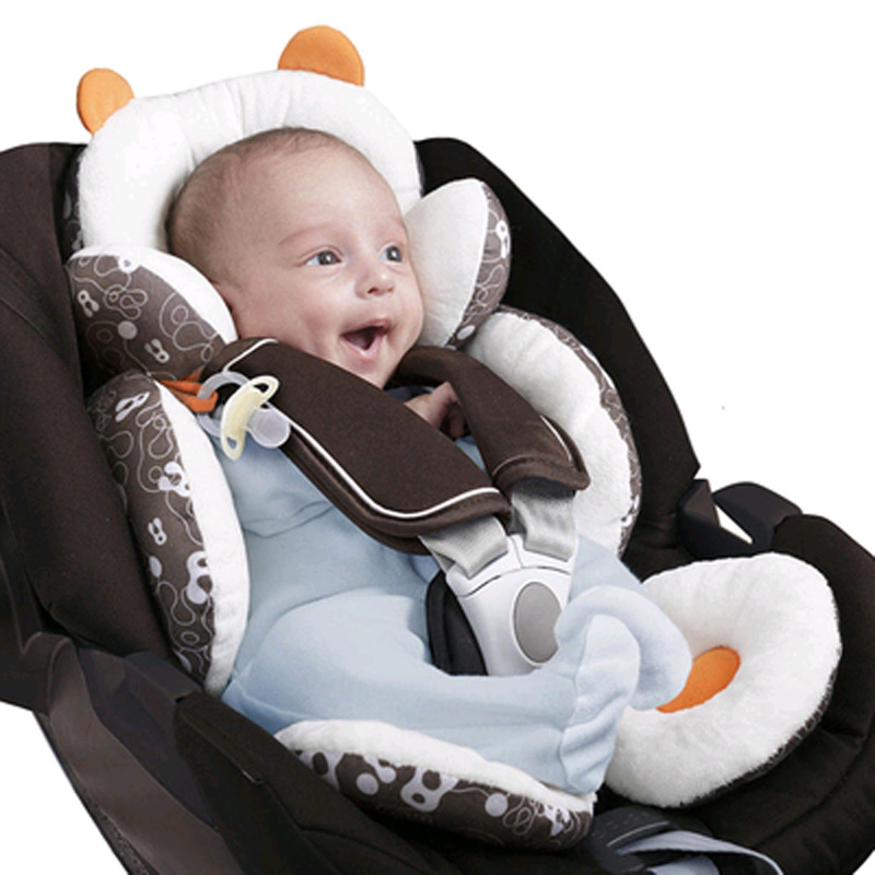 Infant Head Body Support Pillow Cotton Baby Seat Pad for Car Seat /& Stroller