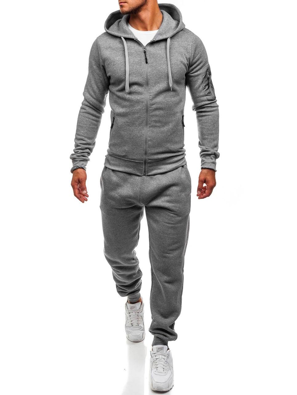ZOGAA 2019 Spring Hot Sale Men's Sports And Leisure Slim Joggers SweatSuits Hoodies+Pants Suit CSweatshirt Sportswear Set 2pc