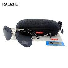 RALIZHE Top Selling Fashion Mens Womens Aviation Polarized Rimless Sunglasses Pilot Vintage Sports Sun Glasses UV400 Driving