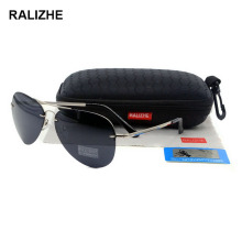 RALIZHE Top Selling Fashion Mens Womens Aviation Polarized Rimless Sung