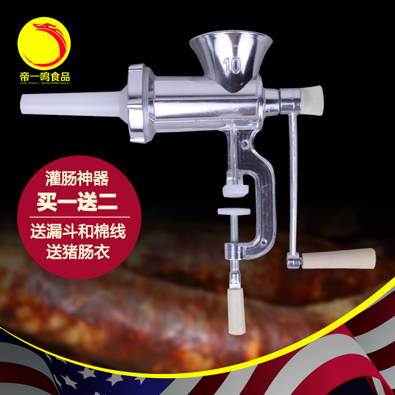 10 Meat Slicer Hand Cast Iron Manual Meat Grinder Mincer Machine Sausage Table Crank Tool for
