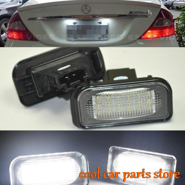 2 error free LED NUMBER LICENSE PLATE LIGHT For Mercedes SL class R230 2001-2011 2pcs lot error free direct fit led number license plate lights lamp for benz w251 r class w164 ml class x164 gl class