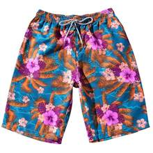 2018 hot sale Summer Men Couples Beach Floral Bohe Shorts Trunks Nickel Pants Plus Size drop shipping Jun 15(China)