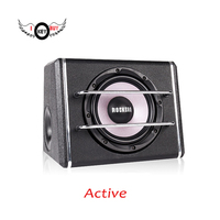 Powerful 8 Inch 12v Car Audio Acoustic Portable Active 500Watts Speakers Amplifier Boom Box Stage Louder
