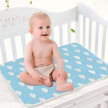 Детский пеленальный коврик, хлопок, экологический Пеленальный пеленальный столик, мультяшный Детский водонепроницаемый матрас, простыня, пеленальный коврик для младенцев