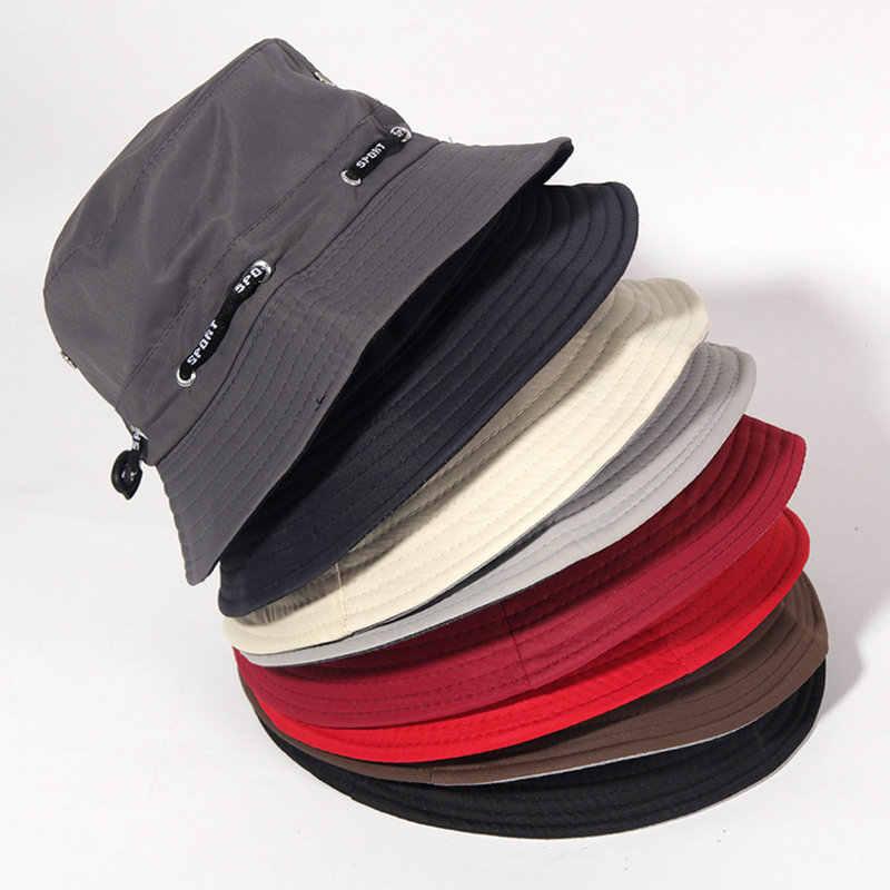 c6e157951e1  La MaxPa Unisex Bucket hat Cotton Solid hat fisherman bush Panama Cap  gorra women