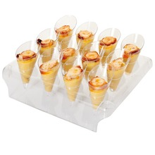 Free Shipping Party Event Wedding Supplies, Recyclable/Reusable Dessert/Ice Cream Buffet 1 Displays + 12 Mini (30ml) Cones