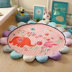 Respetuoso del medio ambiente sol redondo flor alfombra bebé actividad Mat niños alfombra bebé estera alfombra juego de gimnasio de bebé actividad gimnasio de bebé