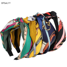 DPSaiLYY 4 PC Free Shipping Knot Hairband Headband for Women Elastic Turban Headband Sport Head Wrap Headwear Hair Accessories free shipping nylon steering rudder for rc boat height 28mm 36mm 44mm 52mm