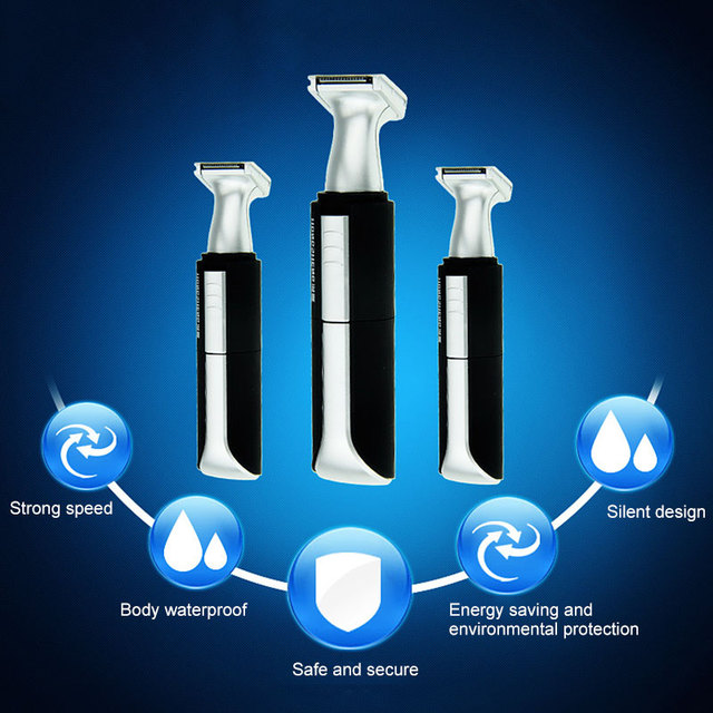 2 In 1 Waterproof Shaver Electric Nose Hair Trimmer Shaver Remover hair Nose Cutter Personal Trimmer HS-3036