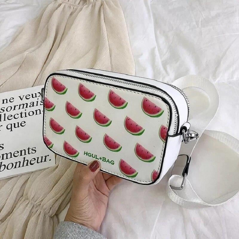 e3f522561b64 Fruit Avocado Handbag Small Box Shape Shoulder Bag Strawberry Crossbody Bag  Watermelon Bag Fashion Messenger Bag