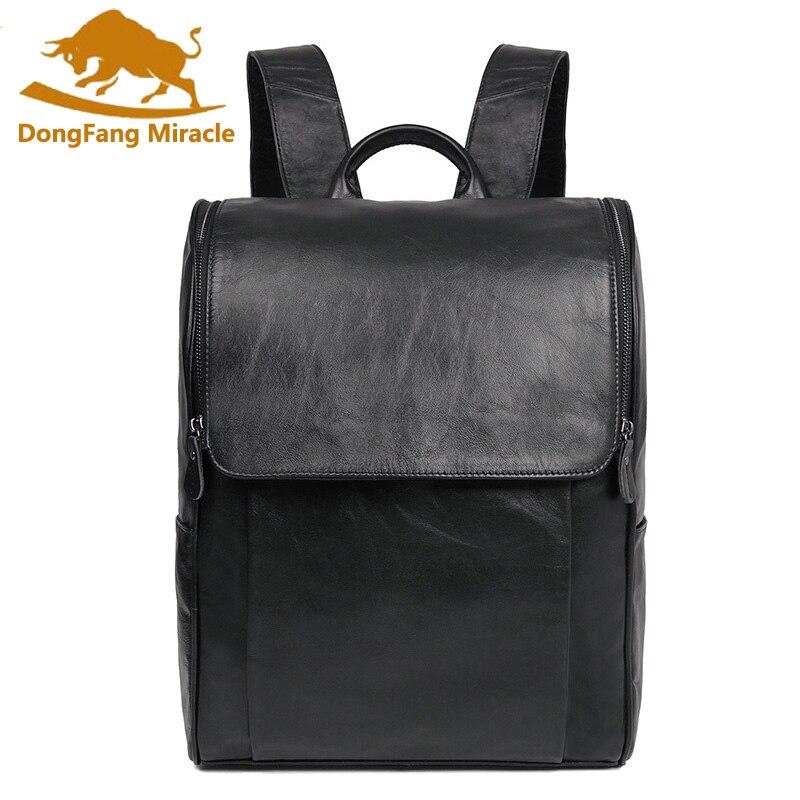 Handmade Tote Bags Large Capacity Mens Women Genuine Leather Backpack Travle Backpack Female Backpack School Bags pabojoe women mens school backpack italian 100