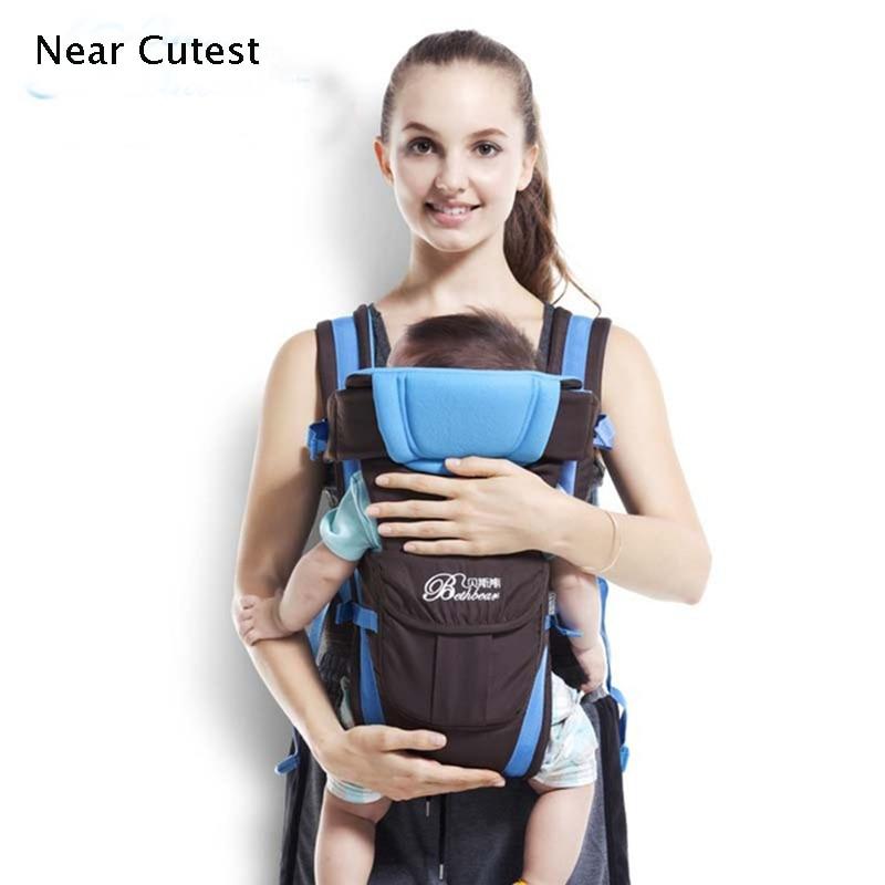 2015 Baby Sling Front Amlswyddogaethol Anadlu'n Wynebu Cwpan Backpack Babi Babi Babi Cyfforddus Wrap Baby Kangaroo