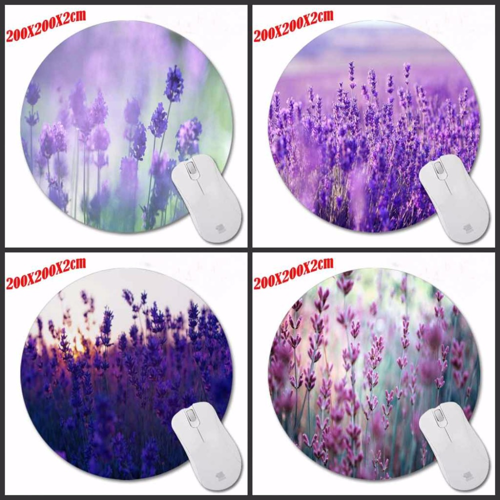 Purple lavender Personality Design Painting Round Mouse Pad Super Hero Series Computer Laptop Gaming Optical Mousemat