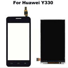 New Original Black Touch Screen Digitizer Glass Sensor+LCD Display Panel Screen For Huawei Ascend Y330 U00 U01 Replacements