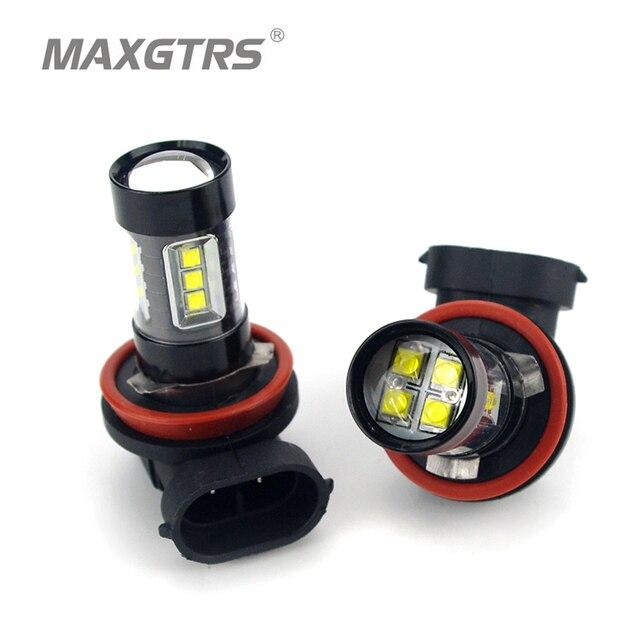 2x H7 H8 H11 9005 9006 HB4 H16 30 W/50 W/80 W קרי שבבי LED רכב ערפל אור ערפל מנורת LED פנס בשעות היום Runing אור DRL 12 V