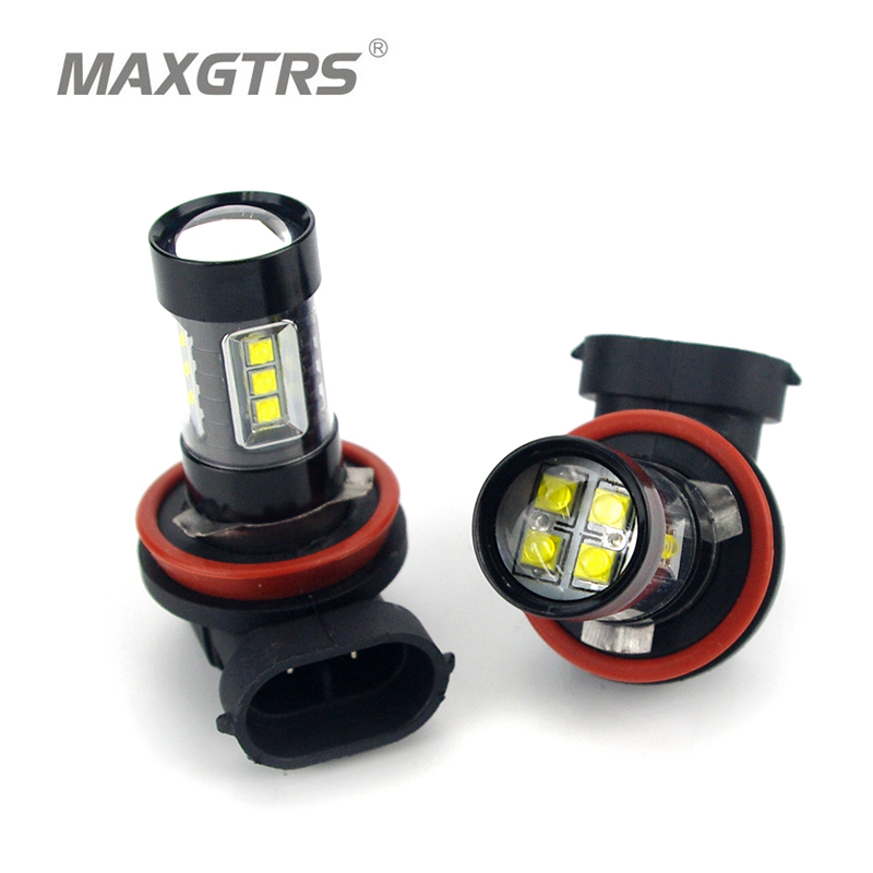 2x H7 <font><b>H8</b></font> H11 9005 9006 HB4 H16 30W/50W/80W <font><b>CREE</b></font> Chips <font><b>LED</b></font> Car Fog Light Fog Lamp <font><b>LED</b></font> Headlight Daytime Runing Light DRL 12V image