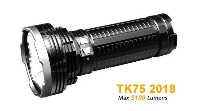 2018 New Led Torch Lamp Lighting Fenix Tk75 Cree Xhp35 Hi 5100 Lumens