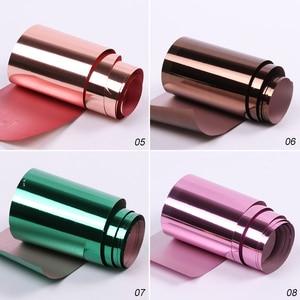 Image 5 - Feuille de transfert en métal, 14 pièces ou 1 pièce, pour Nail Art, effet miroir, Laser, décalcomanie, décalcomanie, accessoires de manucure, LA996 2