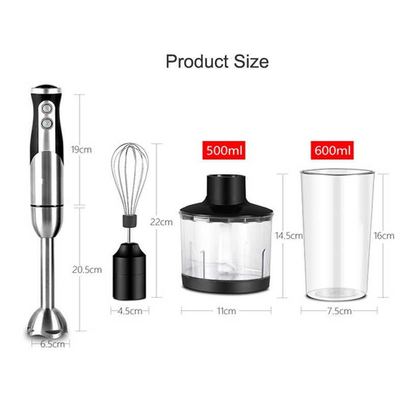 1.9 KG 800 W Hand Blender 4 em 1 Portátil Liquidificador de imersão para Cozinha Whisk Chopper Processador de Alimentos Espremedor Elétrico mixer